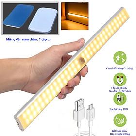 Đèn cảm biến chuyển động phù hợp đi cắm trại, gắn cầu thang, toilet, tủ đồ, giưởng ngủ, tự động bật/tắt ánh sáng ban đêm, sạc bằng USB