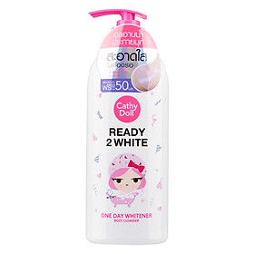 Sữa Tắm Trắng Da Cathy Doll Ready 2 White One Day Whitener Body Cleanser 500ML