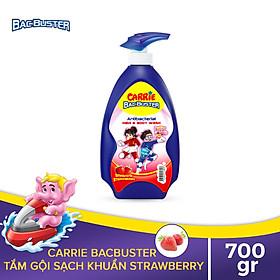 Sữa Tắm Gội Sạch Khuẩn Cho Bé Carrie BacBuster Strawberry 700g