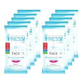 Combo 10 Khăn ướt Fressi Face 20 miếng