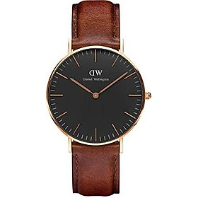 Daniel Wellington Classic St Mawes Rose Gold Watch, 36mm, Leather, for Men and Women