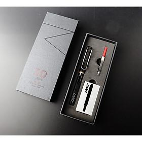 Bộ Quà Tặng Bút Mực Cao Cấp Lamy Safary - Shiny Black (Paper Box + Túi Giấy)