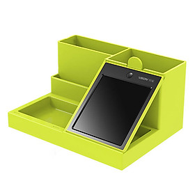 VSON Multi-function Pen Holder with LCD Tablets Office Clear Up Stationery Pen Containers Desk Stand Organizer