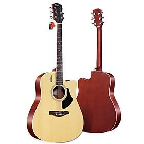 Đàn Guitar Acoustic Rosen G11 Màu Gỗ Dáng D (Size 41) - Phân Phối Chính Hãng - Kèm móng gảy DreamMaker