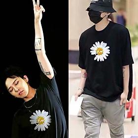 2 color【M-5XL】Fashion Short sleeve T-shirt Men Printed Lightning Flowers Pattern student couple short T-shirt unisex T-shirt Summer new style Oversize couple wear