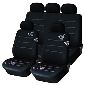 AliExpress four seasons universal seat cover wish, ebay black butterfly embroidery car accessories 9 sets black