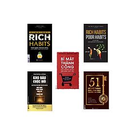 Combo bộ sách thành công ( rich habit + poor habit + bí mật thành công + kho báu cuộc đời + 51 chìa khóa vàng để trở thành nhà lãnh đạo truyền cảm hứng ) DL