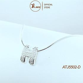 Dây chuyền bạc Ý 925 mặt chữ H cao cấp đính đá pha lê sang trọng ANTA Jewlery - ATJ5502-D