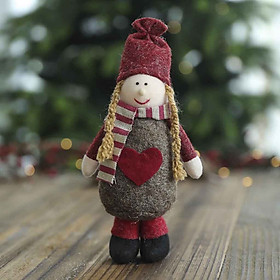(Toponeto) Christmas Snowman Doll Christmas Child Gift Toy Table Decoration For Home