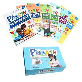 Combo Bộ Sách POMath Toán Tư Duy Cho Trẻ Em 4 Đến 6 Tuổi Và Bộ Học Liệu Đi Kèm (Tặng kèm Bookmark PL)