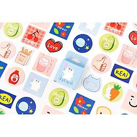 Hộp 45 Miếng Dán Sticker Trang Trí Scrawl