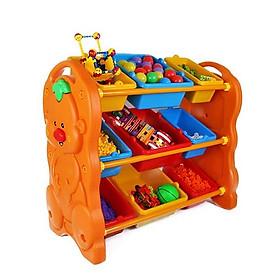 Kệ để đồ chơi nhựa hình con gấu 9 ngăn