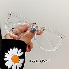 Kính Giả Cận, Gọng Kính Cận Nam Nữ Mắt Vuông To Trong Suốt Không Độ Hàn Quốc - BLUE LIGHT SHOP