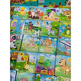 Đồ chơi gỗ - Combo 10 mảnh ghép tranh 9 miếng nhiều chủ đề, giúp bé làm quen ghép hình, tăng khả năng ghi nhớ, tư duy, sáng tạo- chất liệu an toàn