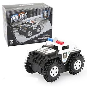 Đồ chơi mô hình xe ô tô cảnh sát chạy pin, nhựa nguyên sinh an toàn, chạy rất nhanh và xa