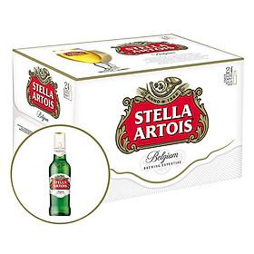 Thùng 24 Chai Bia Stella Artois (330ml / Chai) - Tặng 2 Ly Chính Hãng