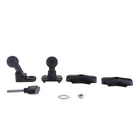 Motorcycle Review Mirror Cell Phone Mount & Double Socket Standard Arm