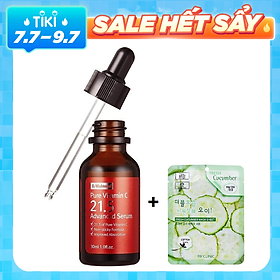 Tinh Chất Dưỡng Trắng, Làm Mờ Thâm By Wishtrend Pure Vitamin C 21.5 Advanced Serum 30ml + Tặng 1 Mặt Nạ 3W Clinic
