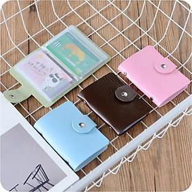 Combo 2  Ví da đựng Name Card , thẻ ATM nhỏ gọn tiện lợi (Màu ngẫu nhiên)