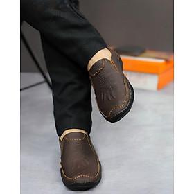 Giày Lười Nam Da Bò Vân Vuốt Cá Sấu Cao Cấp UDANY - GLN25