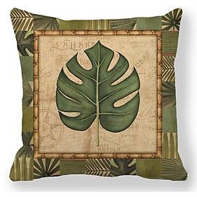 Gối tựa lưng, gối sofa, gối trang trí Chiếc Lá Cổ Điển vải bố dày dặn Mã SBK010