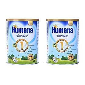 Bộ 2 Lon Sữa Humana Gold 1 (800g) dành cho bé từ 0-6 tháng