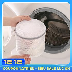 Combo 2 túi lưới giặt đồ 2 lớp Polyester dạng lưới mịn giặt đồ chống biến dạng quần áo cho máy giặt dạng hộp khóa kéo phù hợp giặt đồ nhỏ đồ lót