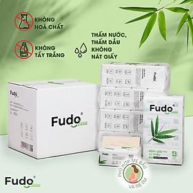 Khăn giấy tre Fudo - Combo 20 Gói Giấy Ăn (1 thùng): 100% bột tre, không tạo mùi, không tẩy trắng, siêu mềm, siêu mịn, siêu dai