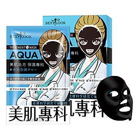 Mặt nạ đen SEXYLOOK Aqua [GIỮ ẨM - NGĂN NGỪA NẾP NHĂN] - Đài Loan (28ml x 4 miếng)