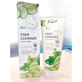 Sữa rửa mặt Dưa Leo - Ekel Foam Cleanser Cucumber 180ml (Tặng 2 mặt nạ Jant Blanc)