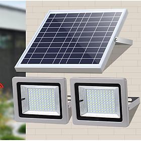 Đèn led năng lượng mặt trời 1 pin quang điện, 2 đèn, lắp ngoài trời hoặc trong nhà