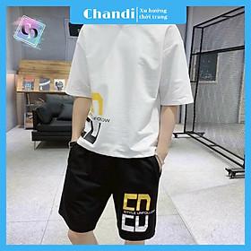 Đồ Bộ Thể Thao Nam thương hiệu Chandi, Đồ Bộ Mặc Nhà chất liệu thun cao cấp mát mẻ, thấm hút mồ hôi tốt MS9011
