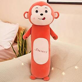 Gối Ôm Thú Nhồi Bông Cho Bé Loại Siêu Mềm Hình Khỉ Con Size 60cm Siêu Dễ Thương