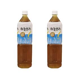 Combo 2 Chai Nước Trà Lúa Mạch WoongJin (1.5L/Chai) - Nhập Khẩu Hàn Quốc