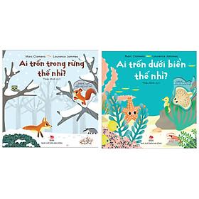Combo Truyện Kể Cho Bé Hay: Ai Trốn Trong Rừng Thế Nhỉ + Ai Trốn Dưới Biển Thế Nhỉ ( Tặng Kèm Postcard Happy Life )
