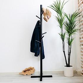 Cây Treo Quần Áo Gỗ Standing Hanger Nội Thất Kiểu Hàn BEYOURs - Đen