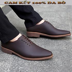 giày tây nam công sở da bò đế cao su siêu bền - xem hàng mới thanh toán
