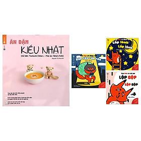 Combo Sách Nuôi Con & Truyện Ehon Nhật Bản 0 - 3 Tuổi: Ăn Dặm Kiểu Nhật + Ehon Sự Kỳ Diệu Của Âm Thanh + Poster An Toàn Cho Con Yêu (Sách phát triển trí tuệ cho bé + sách dinh dưỡng ăn dặm)