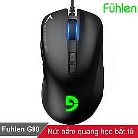 Chuột gaming chơi game có dây Fuhlen G90 nút bấm bất tử led RGB tem Ninza - Hàng chính hãng