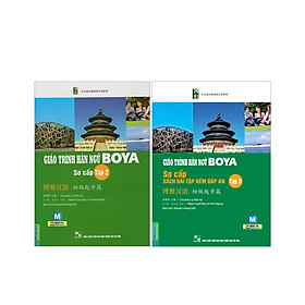 Combo 2 cuốn Giáo trình Boya sơ cấp tập 2+ Giáo trình boya sơ cấp tập 2 sách bài tâp-đáp án( tặng 1 giá đỡ iring cute)