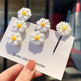 Dây chun buộc tóc - kẹp buộc tóc hoa cúc trắng