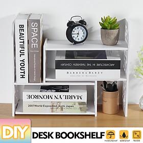 Expandable Desktop Bookshelf Bookcase Organizer Rack Office Storage Shelf Box Shelves Stand