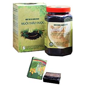 Combo 02 Muối thảo dược ngâm chân (550gr/hộp) và Tặng kèm 01 xà bông thảo dược