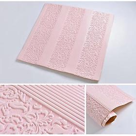 Bộ 10 tấm xốp dán tường 3D hoa văn cổ điển - 70 x 70 cm