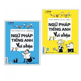 Combo 2 cuốn Ngữ Pháp Tiếng Anh Vui Nhộn - Beginners+ Basic ( Tặng kèm bookmark thiết kế)