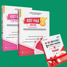 Sách - Combo Đột phá 8+(Phiên bản 2020) môn Toán tập 1(đại số và giải tích) và Tiếng anh tập 1 (Tặng ngay 1 cuốn Ôn luyện thi trắc nghiệm THPTQG môn Toán)