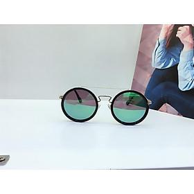 kính mát nam, nữ tráng gương mắt tròn, thời trang, UV400, mắt kính phân cực OVD0001