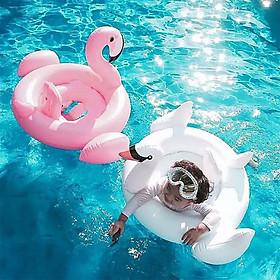 Phao bơi cho bé hình thiên nga+ Tặng quà như hình-Phao bơi an toàn cho bé khi đi bơi ở bể bơi hay đi biển, giao màu ngẫu nhiên