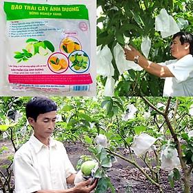 100 Túi bao Ổi, Cam, Na, Vú Sữa,.. túi bọc trái cây phòng ngừa sâu bệnh phá hoại - Dạng Rút Túi Chuyên Dụng