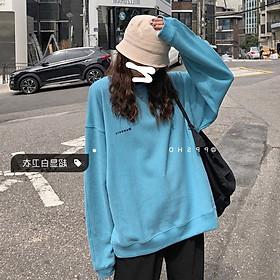 Áo Sweater Mỏng Cổ Tròn Thêu Chữ Thời Trang Cho Nữ